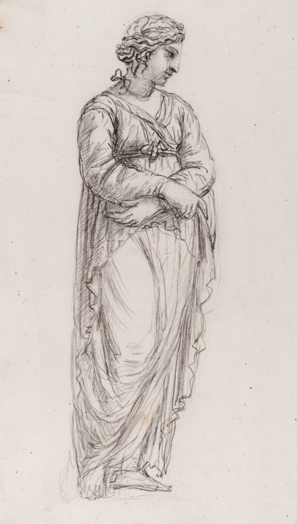 HOARE William R.A. (1707-1792) - Draped figure.