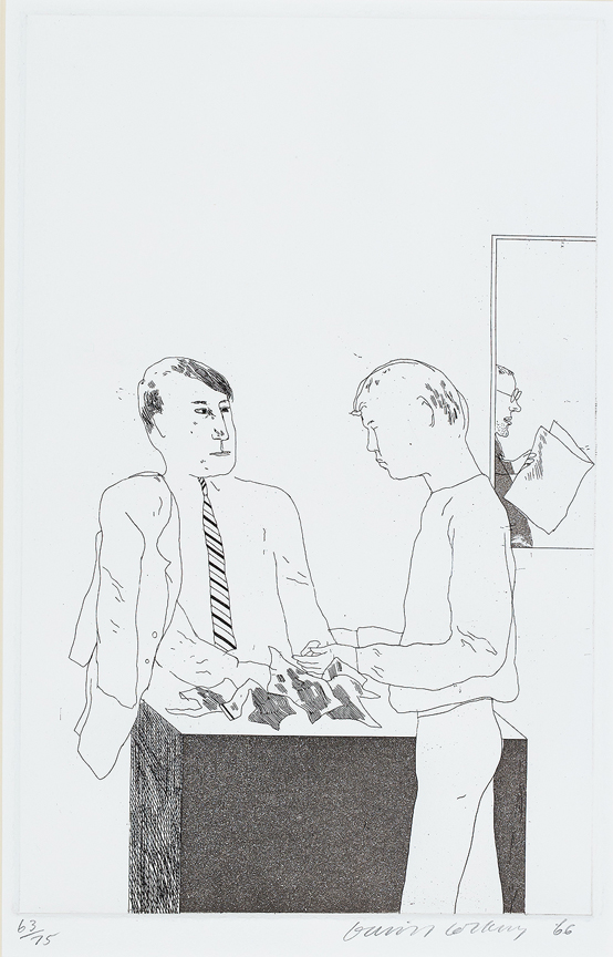 HOCKNEY David R.A. - 'He enquired after the quality' Etching.