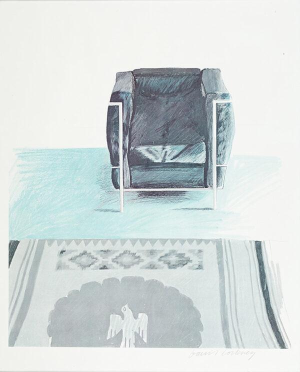 HOCKNEY David O.M.R.A. (b.1937) - Corbusier Chair and Rug.