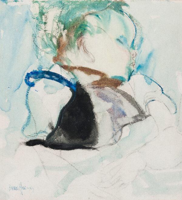 HODGKINS Frances (1869-1947) - Sleeping Baby.