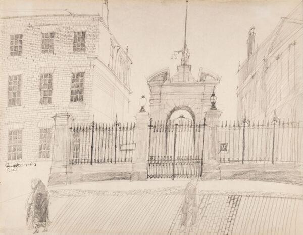 HOGARTH Paul R.A. (1917-2001) - 'Dublin', the entrance to the castle.