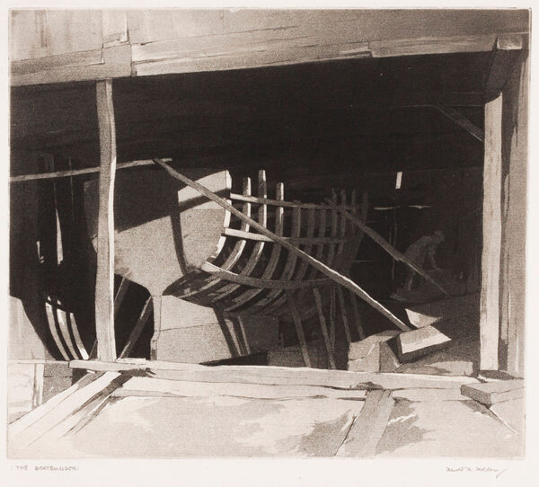 HOLDEN Harold A.R.W.S. R.B.S.A. (1885-c.1960) - 'The Boatbuilder'.