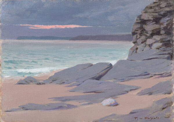 HOLGATE Thomas Wood (1869-1954) - 'Evening, near Porthleven, Cornwall'.