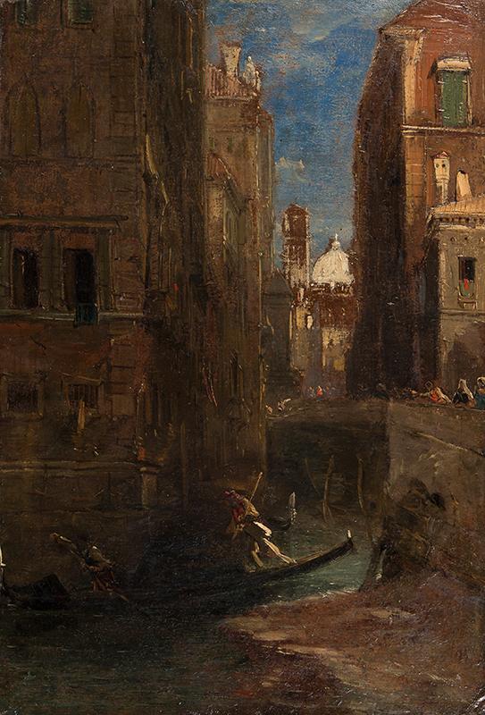 HOLLAND James (1799-1870) - Looking towards San Giorgio dei Greci, Venetian.