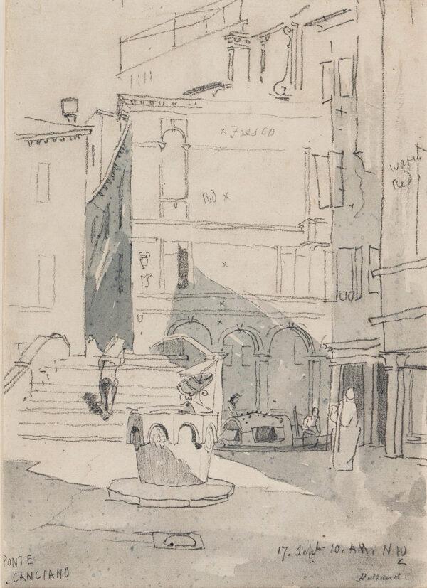 HOLLAND James O.W.S. (1799-1870) - 'Ponte Canciano', Cannaregio, Venice.