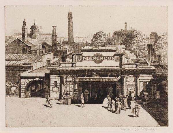 HOLMES Marjorie (née Fenning) (1907-1992) - 'Charing Cross Underground Station'.