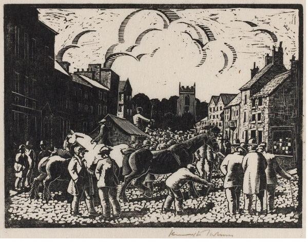 HOLMES Kenneth (1902- 1994) - 'Skipton Horse Fair'.