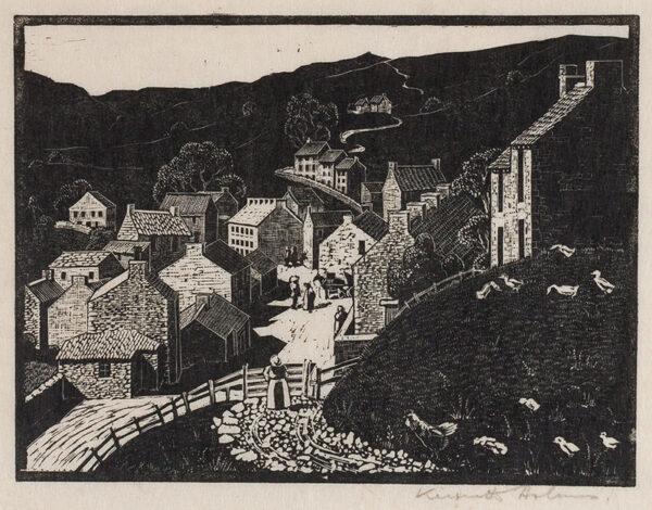 HOLMES Kenneth (1902-1994) - Yorkshire Village.