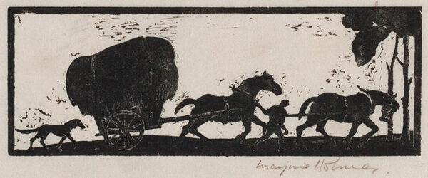 HOLMES Marjorie (née Fenning) (1907-1992) - The Hay Cart.