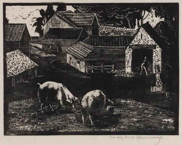 HOLMES Marjorie (née Fenning) (1907-1992) - The Farm Yard.
