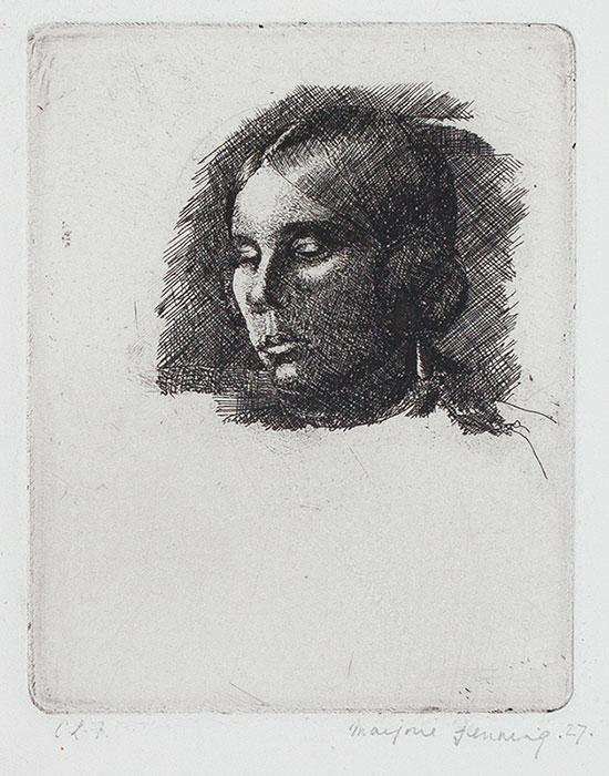 HOLMES Marjorie (née Fenning) (1907-1992) - 'Head of a Girl'.