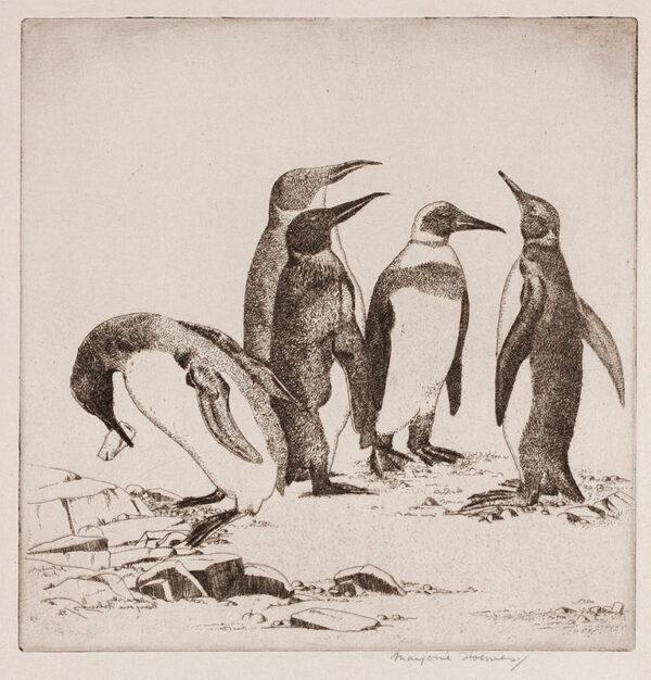 HOLMES Marjorie (née Fenning) (1907-1992) - 'Penguins'.