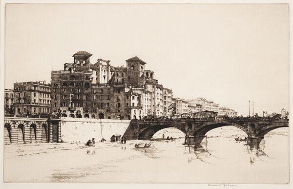 HOLMES Kenneth (1902-1994) - 'Ponte Aventino', Rome.