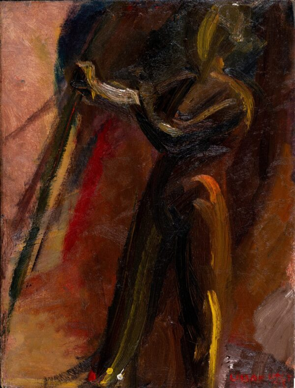 HOLT Lillian (Bomberg) (1898-1983) - Nude at an (?)easel.