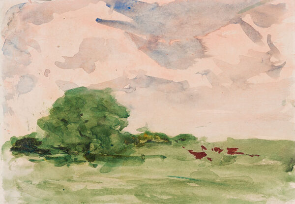 HONE Nathanial R.H.A. (1831-1917) - 'Landscape with cattle': probably St Douloughs Park, Maheny, Co Dublin.