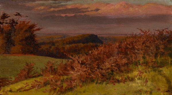 HOWARD George (9th Earl of Carlisle) (1843-1911) - Lansdcape near Naworth Castle, Cumbria.