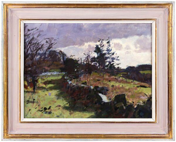 HOWARD Ken R.A. (b.1932) - 'Near Sampford Spiney, Dartmoor'.
