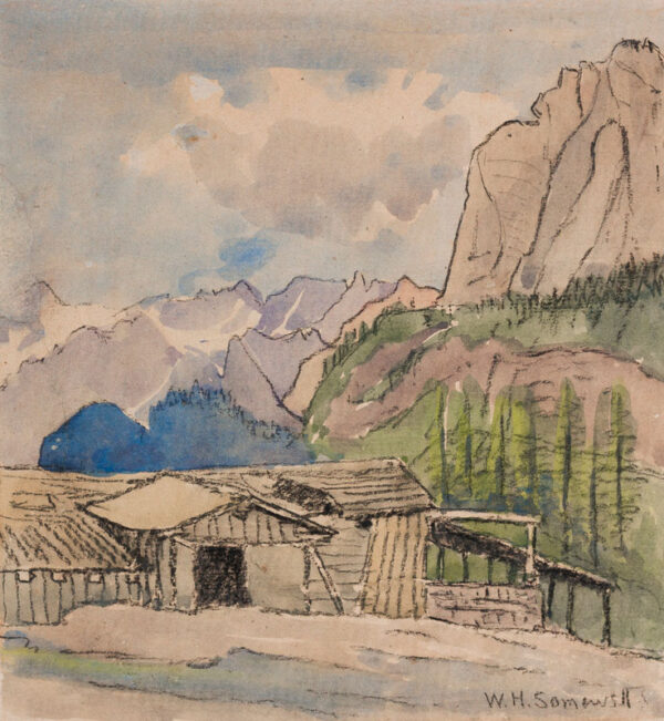 HOWARD SOMERVELL William M.P. (1860-1934) - In the Alps.