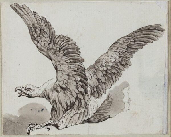 HOWITT Samuel (1756-1822) - Eagle on a crag.
