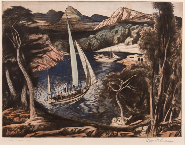 HOYTON Edward Bouverie (1900-1988) - 'La Cala Grassio, Ibiza'.