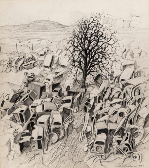 HUBBUCK Rodney (b.1940) - 'Blighted Earth'.