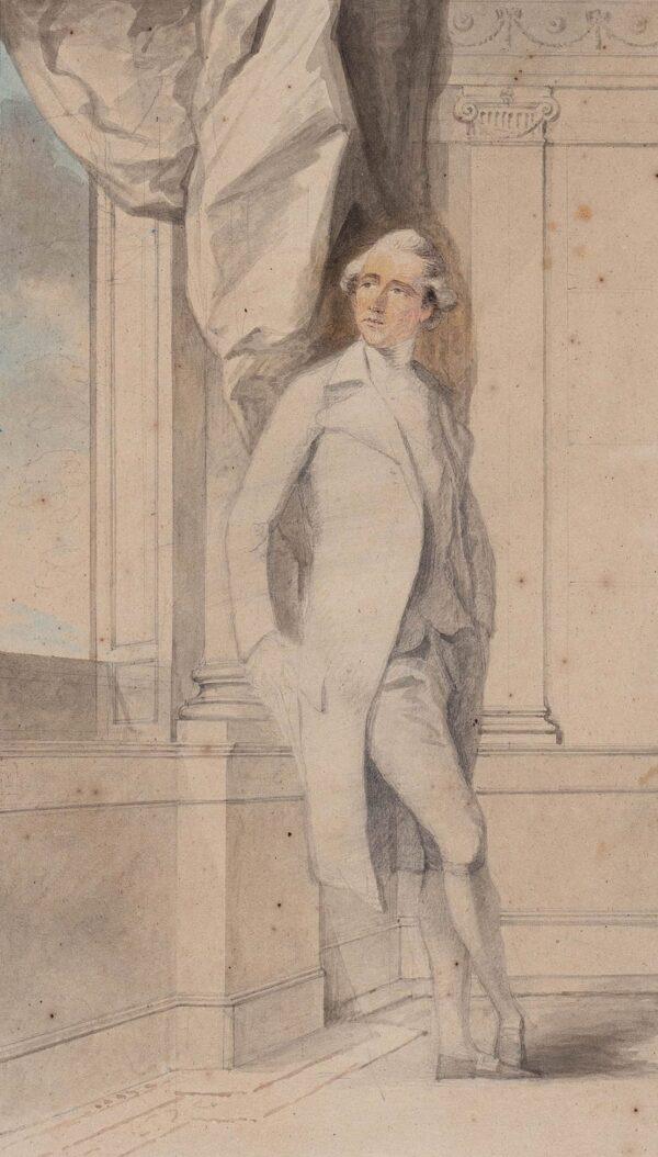 HUMPHREY Ozias R.A. (1742-1810) - Study for the portrait of a Gentleman.