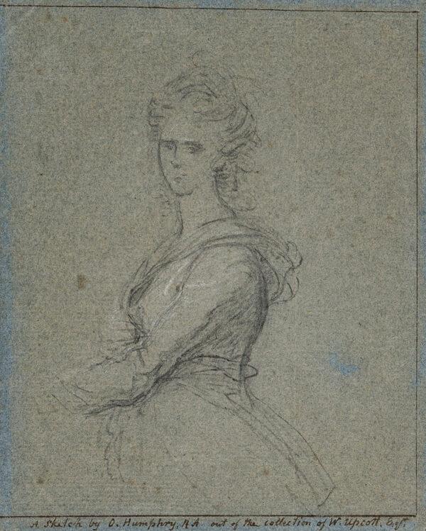 HUMPHRY Ozias R.A. (1742-1810) - Portrait study.
