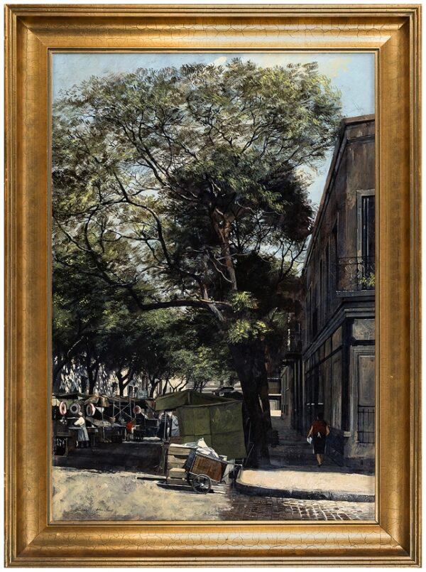 HUNT Michael John (b.1941) - 'Meat Market, Buenos Aires'.