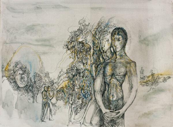HURRY Leslie (1908-1978) - Landscape and figures.
