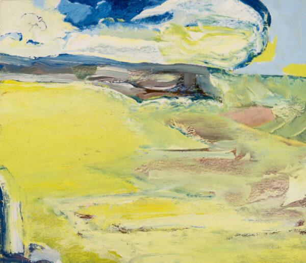HYATT Derek (1931-2015) - 'Windy day for lapwings'.