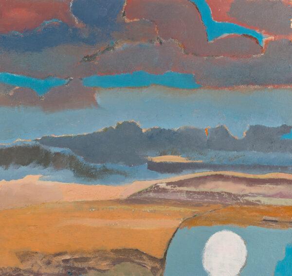 HYATT Derek (1931-2015) - 'Moonrise' Oil on board.