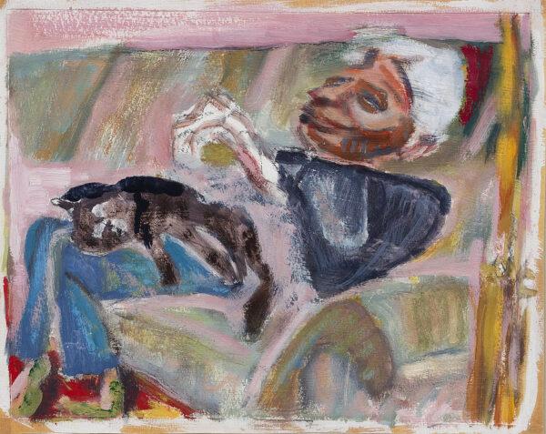 HYMAN Timothy R.A. (b.1946) - 'Sacha Rabinovitch' (1934-1910) Oil on paper.