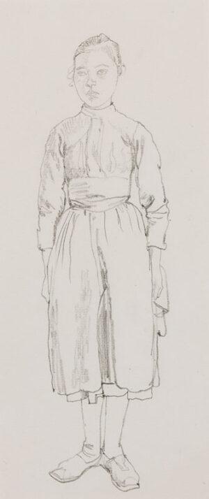 IHLEE Rudolph N.E.A.C. (1883-1968) - 'Breton Serving Maid'.
