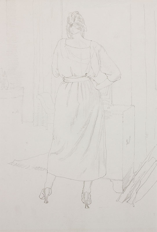 IHLEE Rudolph N.E.A.C. (1883-1968) - 'Art Student'.
