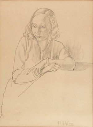 IHLEE Rudolph N.E.A.C. (1883-1968) - Seated girl.