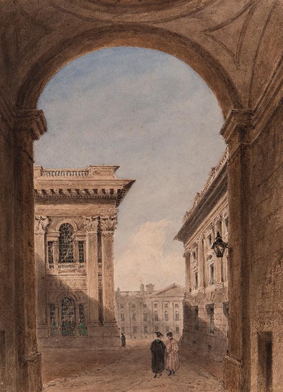 INCE Joseph Murray (1806-1859) - Canterbury Gate and Christ Church Quad, Oxford.