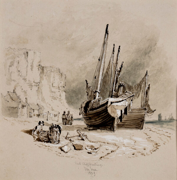 INCE John Murray (1806-1859) - 'East Cliff, Hastings'.