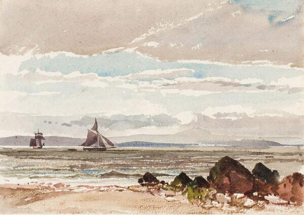 JACKSON Samuel Phillips R.W.S. (1830-1904) - 'View across the Bristol Channel'.