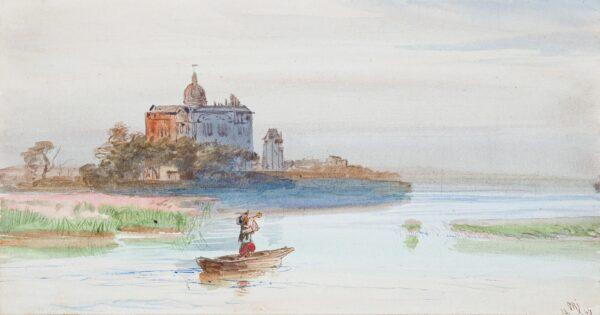 JACOBI Otto Reinhard P.R.C.A. (1812 Konigsberg-1901 Canada) - Castle capriccio.