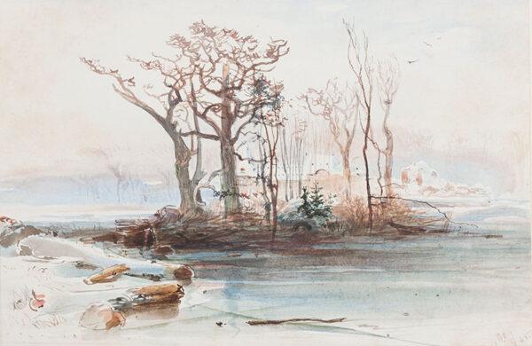 JACOBI Otto Reinhard P.R.C.A. (b. Germany 1812 - d. Canada 1901) - Watercolour.