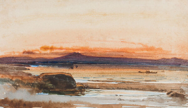 JACOBI Otto Reinhard P.R.C.A. (b. Germany 1812 - d. Canada 1901) - Watercolour by the German born artist who emigrated to Canada in 1863, and became President of the Royal Canadian Academy of Arts in 1890.