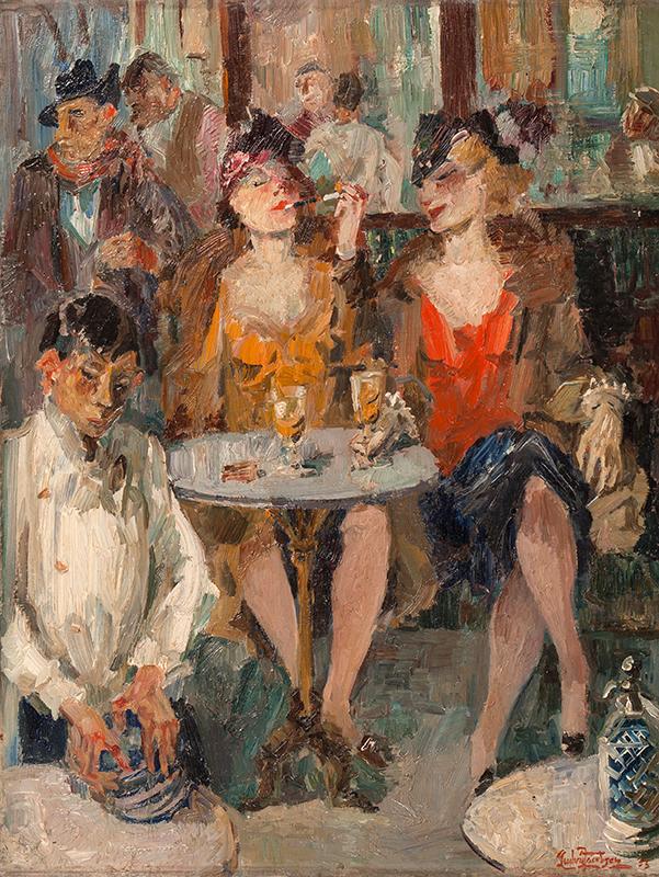 JACOBSEN Ludwig (Danish 1890-1957) - 'Au Café'.