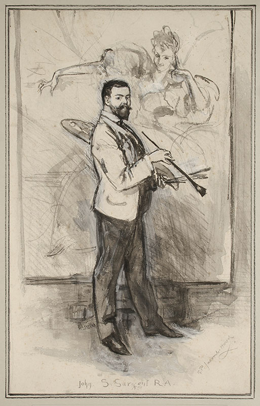 JACOMB-HOOD George Percy R.B.A. (1857-1929) - John Singer Sargent R.