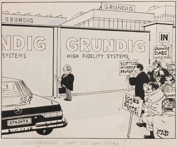 JAK (Raymond Jackson) (1927-1997) - Confused identities during the 1977 Grunwich Strike.