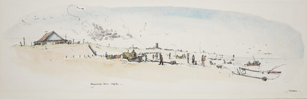 JAMIESON Peter (b.1945) - 'Happisburgh beach', Norfolk.