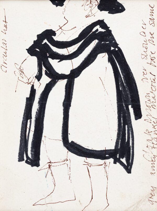JARMAN Derek (1942-1994) - Costume design for a cloaked figure, 'Don Giovanni'.