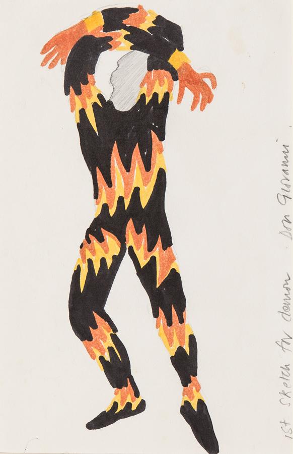 JARMAN Derek (1942-1994) - 'Ist sketch for Demon.