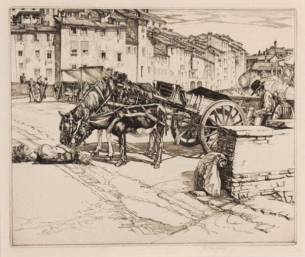 JENNINGS E Owen (1895-c.1985) - The Sand Cart, Siena.