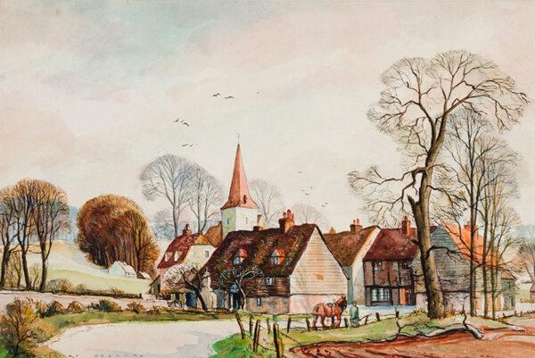 JEZZARD Stanley (1911-1983) - Kentish village.
