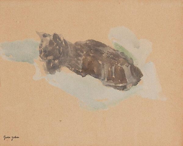 JOHN Gwen (1876-1939) - Sleeping cat.